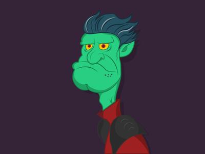 Mr. Troll troll sketch digital draw concept-art colors character illustration