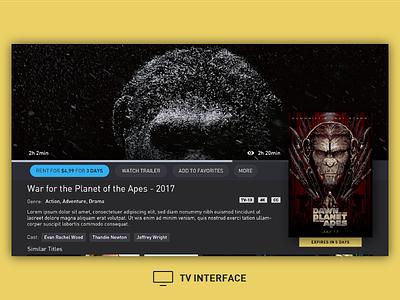 TV Interface platform movie interface stb tv ux ui detail info