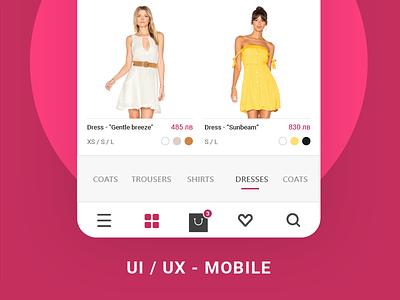 Fashion Mobile app modern fashion iphone design product design mobile ux ui