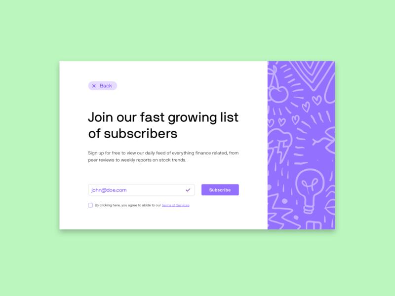 Day 26 - Subscribe subscribe dailyui026 dailyui