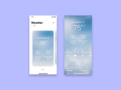 Day 37 - Weather App ios weather app day37 dailyui