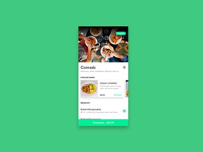 Day 43 - Food Menu uiux menu food app ui dailyui