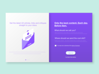 Daily UX service - Sign Up - UI 001