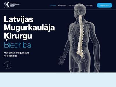 Latvian Society of Spine Surgeons web design website web ux ui