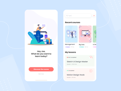 Educational Learning Platform Mobile App sketch lesson designer course course app figma dribbble app ui  ux uidesign ui ios ui  ux design ios mobile app concept app education app educational