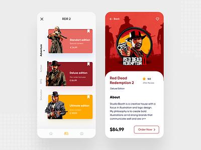 GG - Mobile App Concept player gamestore pcgames pc games play figma dribbble app sketch ui  ux uidesign ios design ui  ux design ios mobile app concept app