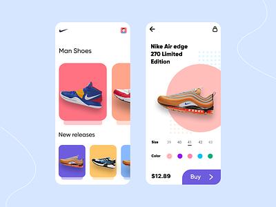 Sneakers Shop Concept Mobile App store market shop nike air nike sneaker figma dribbble app sketch ui  ux uidesign ios design ui  ux design ios mobile app concept app