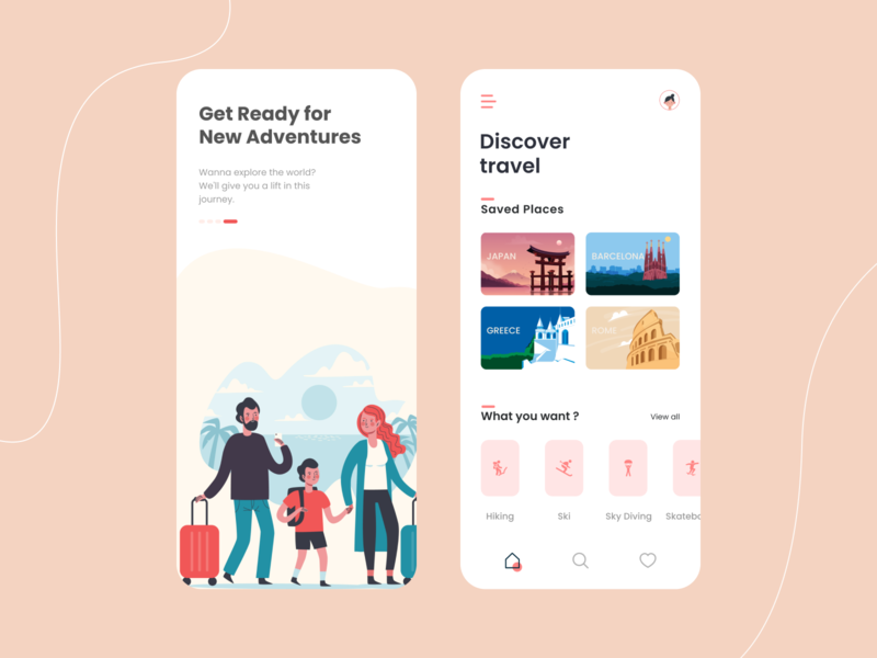 Travel Assistant App Concept