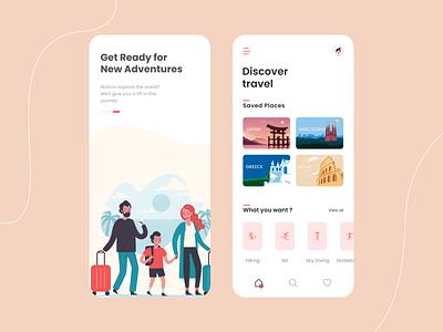 Travel Assistant App Concept travel app traveling travel concept sketch figma ios dribbble app uidesign design ui  ux design ios mobile app concept app