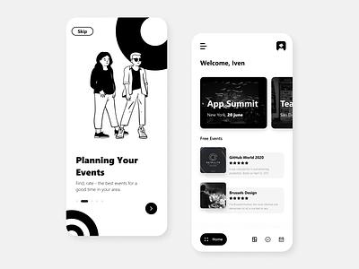 Discovering Events Mobile App events planning event app culture friends event concept branding figma ios uidesign design ios mobile app concept app