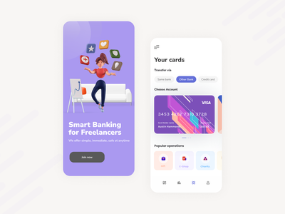 Bixy Smart Bank - Mobile App business card financeapp fintech app smartmobilebanking creditcard service concept art figma design ui  ux design concept app ios mobile app many concept freelancer bank