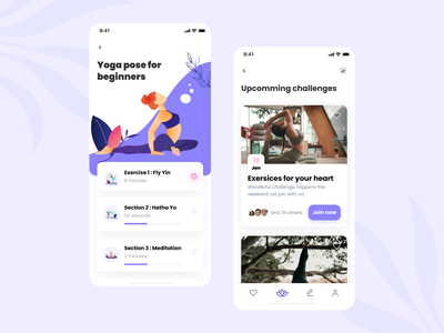 Yo Chi - Yoga Сlasses Mobile Exploration mvp exercise trainer fitness app sports fitness chalenge challenges classes sketch ui  ux dribbble app design ios mobile app concept app yoga app