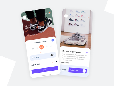 Shoes Mobile App ux ui application design adidas nike shoes app design figma concept app ios mobile app ecommerce online shop inspiration clean ui urban sport fashion add to cart product application
