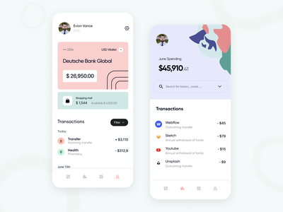 Davon | Bank for all banking app application app ios mobile app concept app interface bank finance fintech mobile