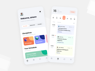 Education Platform | Mobile interface classroom course student online school teaching schedule learning dribbble app ios mobile app figma design concept ui education