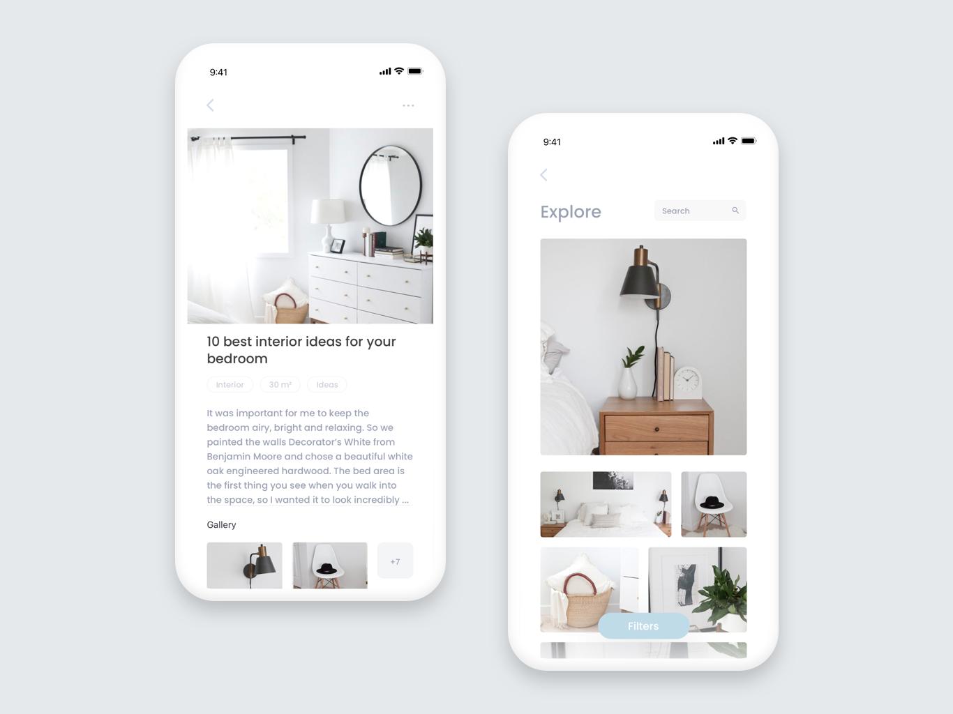 Interior design app interior design concept art ui  ux ios ui vector concept app ui  ux design ios mobile app