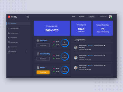 Reddy  Student Dashboard