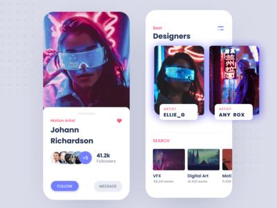 Social Media Platform for Digital Artists