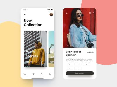 Clothing store app design