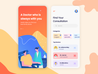 Healfy - Doctor Consultation App Concept