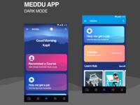 Meddu app dark mode