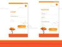 Login & registration concept