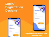 Free android login designs with xml source code