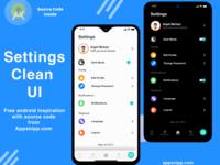 Settings App Mockup