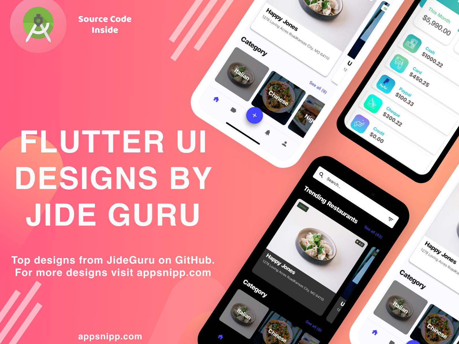 Free Flutter UI Designs by Kapil Mohan on Dribbble