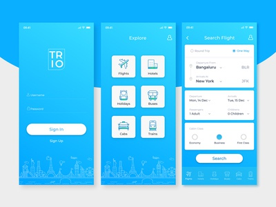 Mobile App - Travel Booking
