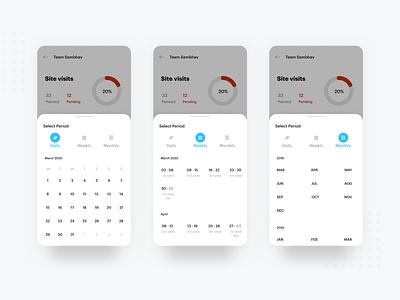 Date Picker picker calander workflow mobile interface interaction app ui ux experience design
