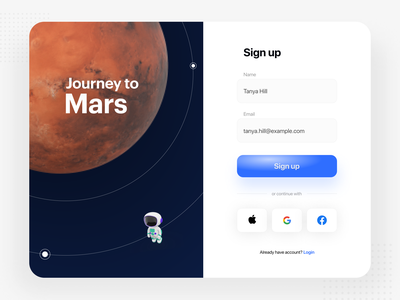 Sign Up 001 dailyui signup mard ui interface app ux experience design