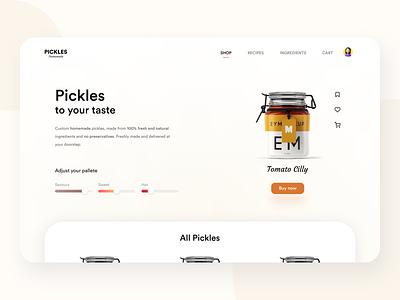 Landing Page 003 dailyui food pickle interface app ui ux experience design