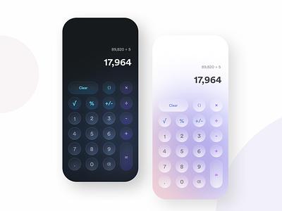 Calculator 004 dailyui dark glassmorphism interface app ui ux experience design