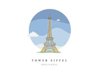 Tower Eiffel. Paris, France.