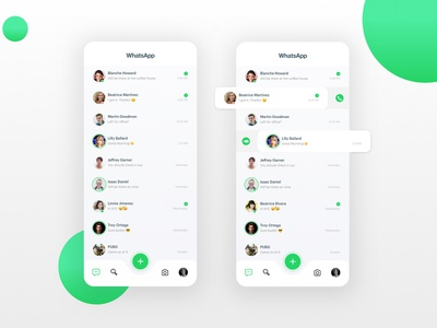 Whatsapp Redesign contact redesign call chat whatsapp interface ui ux mobile interaction experience app design