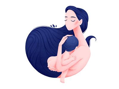 mother character charachter design illustraion