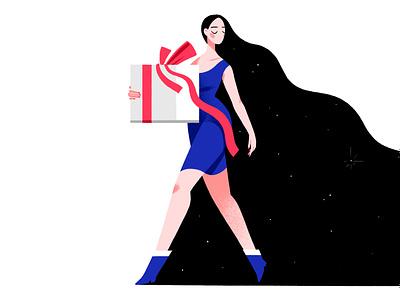 gift girl charachter design characterdesign illustration
