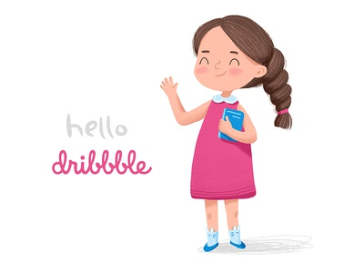 Hello dribbble characterdesign illustration