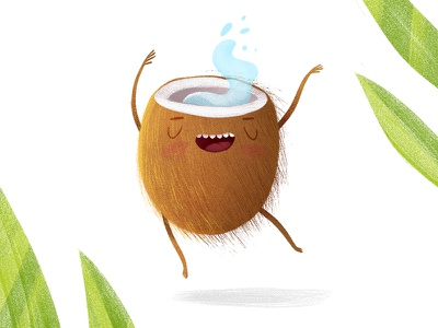 Cheerfull Coconut characterdesign illustration