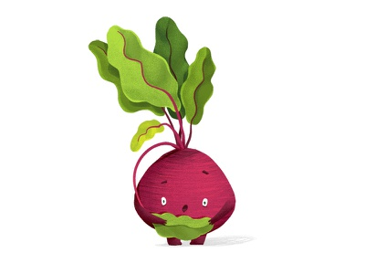 Blushing beet characterdesign illustration