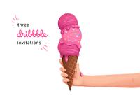 3 dribbble invitation