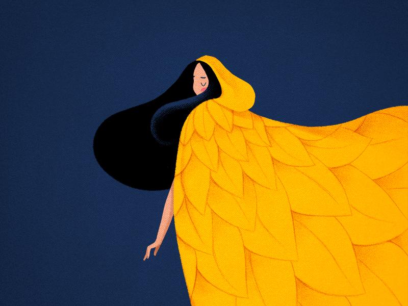 golden autumn girl charachter design characterdesign illustration