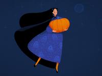 pumpkin fairy girl
