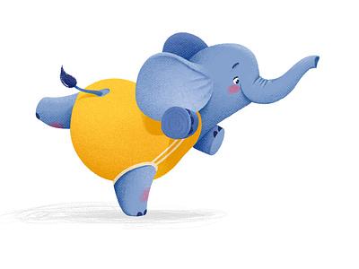 little elephant Bo charachter design characterdesign illustration