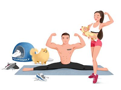sport family charachter design characterdesign illustration