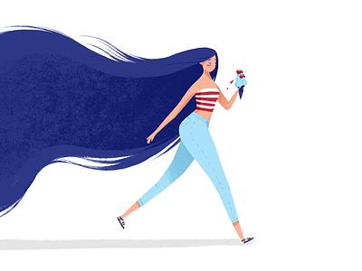 icecreem girl charachter design characterdesign illustration