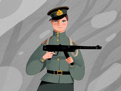 Russian woman charachter design characterdesign illustration