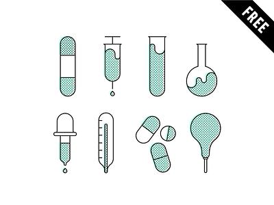 Pharmacy Icon set - FREE DOWNLOAD freebies free download illustrator icons vector dowload icon set