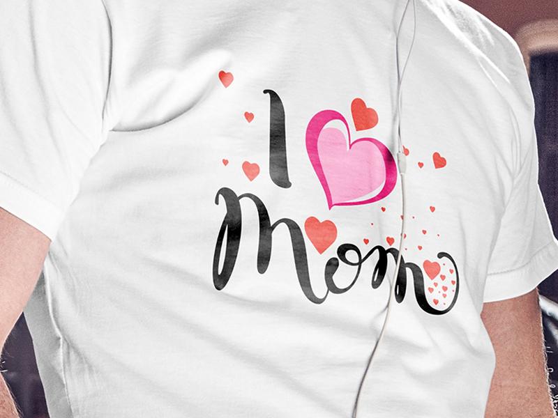 I love mom Tshirt Design by Tees Shop USA on Dribbble